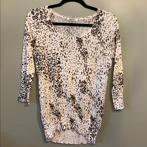 DKNY Printed 3/4 Sleeve Sweater Women's Size S